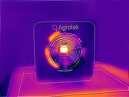 Image thermique de la LED Horticole Agrotek 200 Image thermique de la LED Horticole Agrotek 200